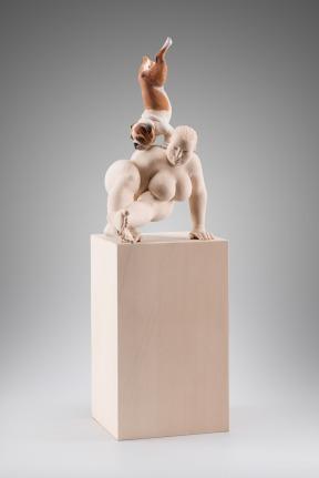 """Balance"" - 50cm - painted limewood - 2015"
