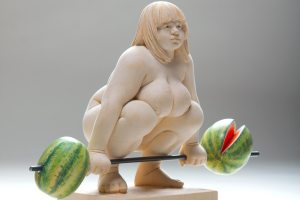 lifting 4 watermelons (detail)