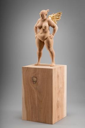 """""""Basejumper"""" - 72cm - applewood, goldleaves - 2016"""
