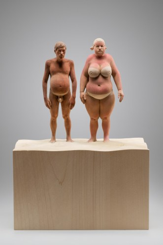 """""""Tomato tan II"""" - 35 cm - Lindenwood applewood, acrylic colors - 2014"""