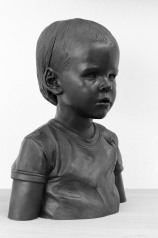 """Eleonora"" portrait in bronze, lifesize, black patina"