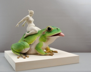 The frog princess / 50 x 60 x 60 cm / limewood / 2019